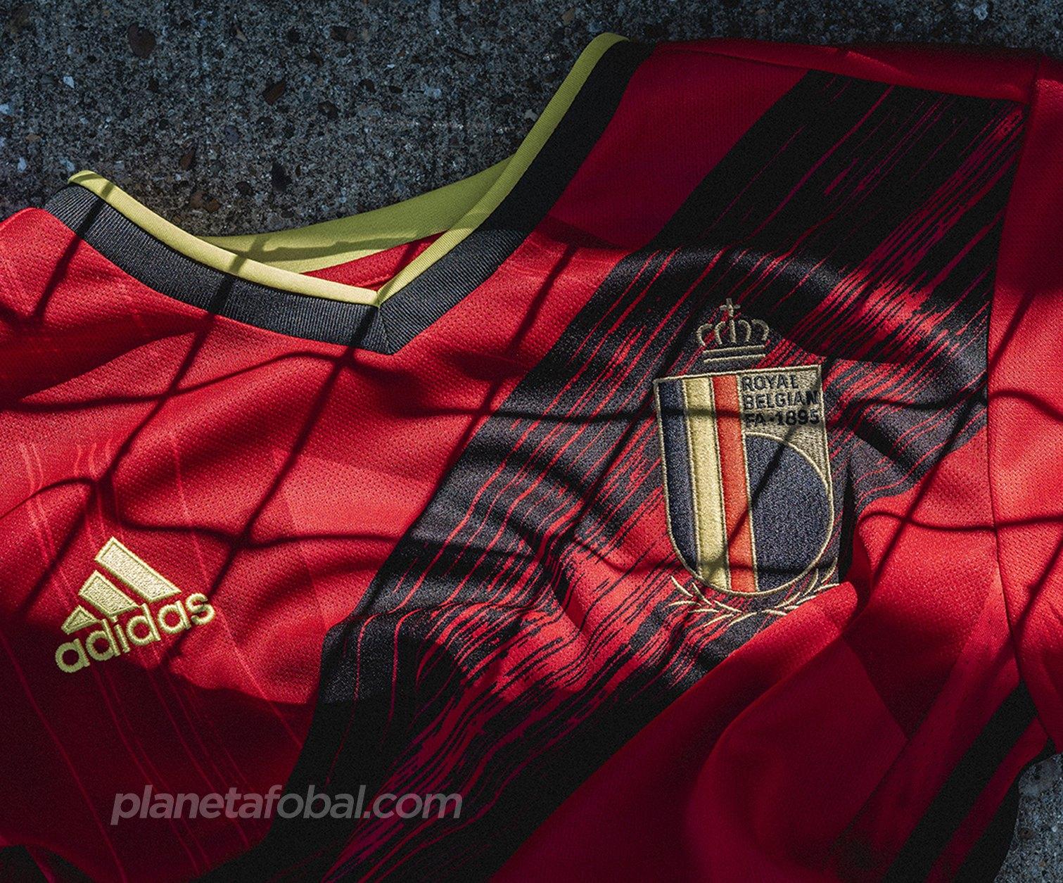El nuevo escudo de la Royal Belgian FA en la casaca de Bélgica | Imagen Adidas