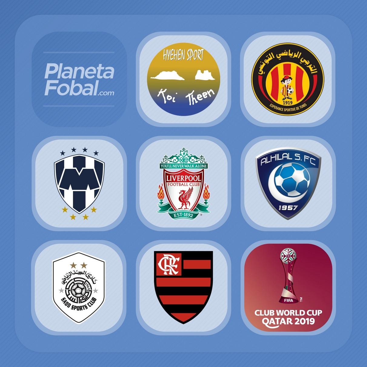 Los escudos de cada institución