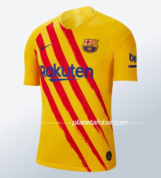 "Cuarta camiseta del FC Barcelona ""Senyera"" 2019/2020 | Imagen Nike"