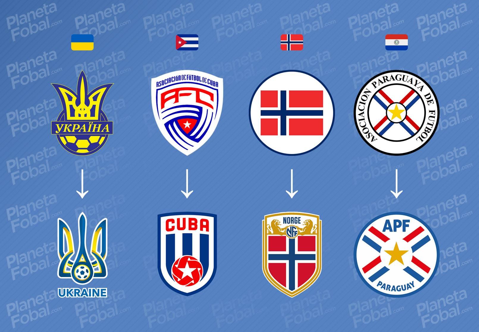 Evolución de Ucrania, Cuba, Noruega y Paraguay