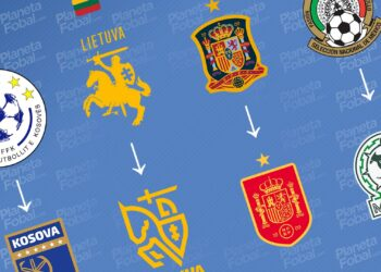 Selecciones que renovaron su escudo en los últimos años