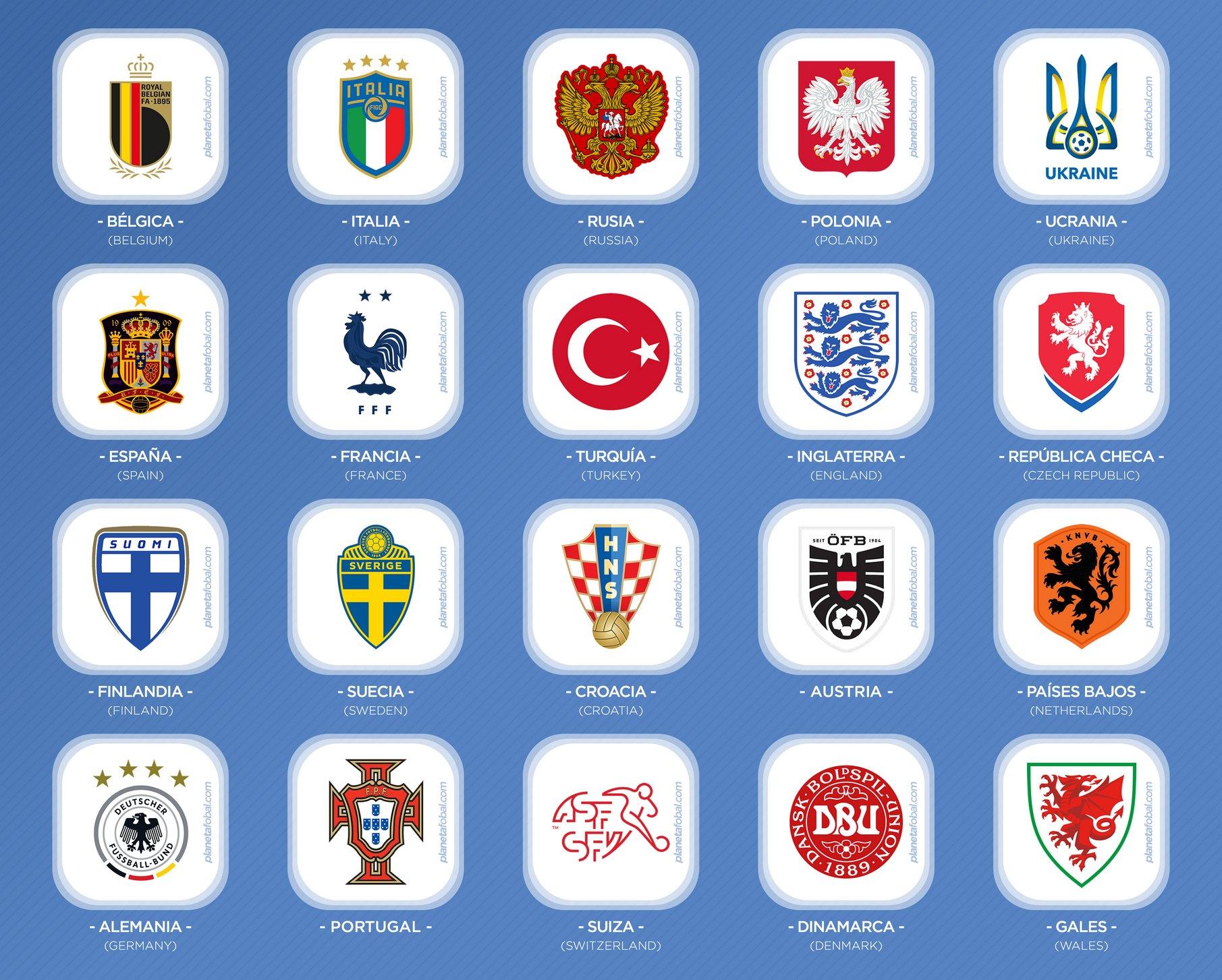 Los países clasificados a la Eurocopa 2020