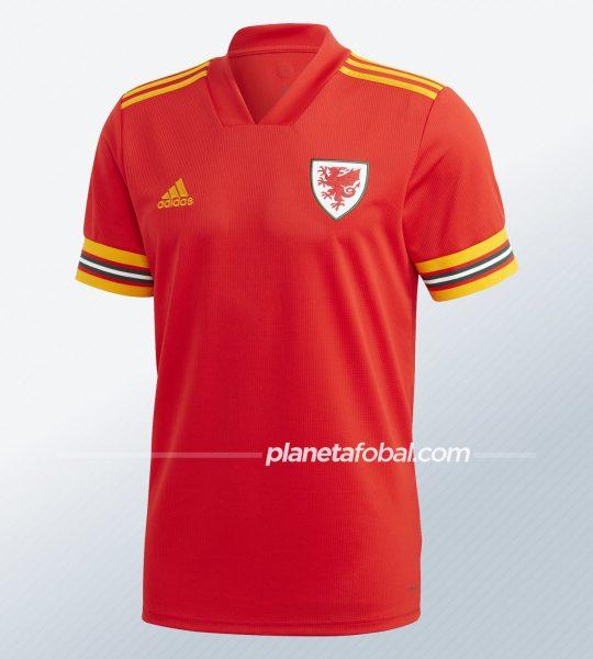 Camiseta titular de Gales 2020/2021 | Imagen Adidas