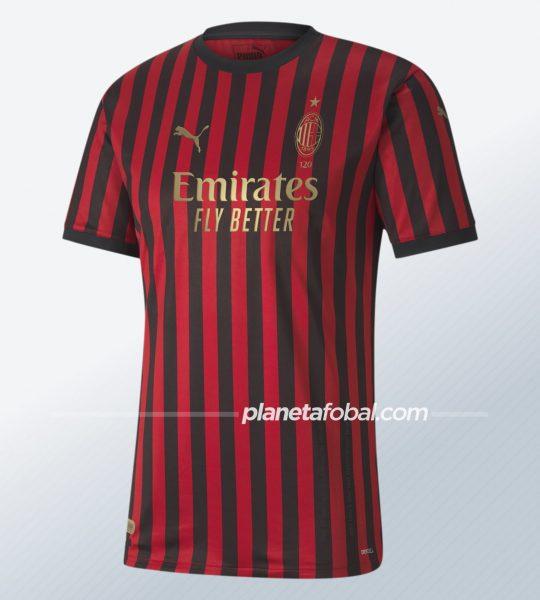 Camiseta del AC Milan por sus 120 años   Imagen Puma