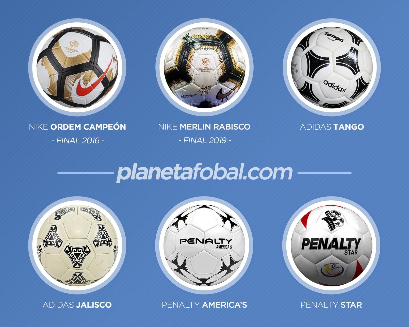 Otros balones que se usaron en la Copa América