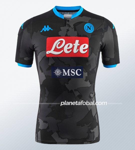 Cuarta camiseta Kappa del Napoli 2019/20 | Imagen Web Oficial