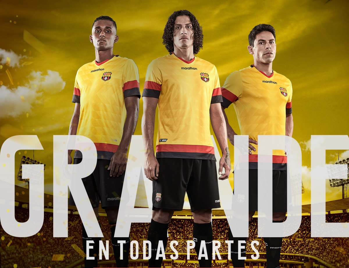 Camiseta local del Barcelona SC 2020 | Imagen Marathon