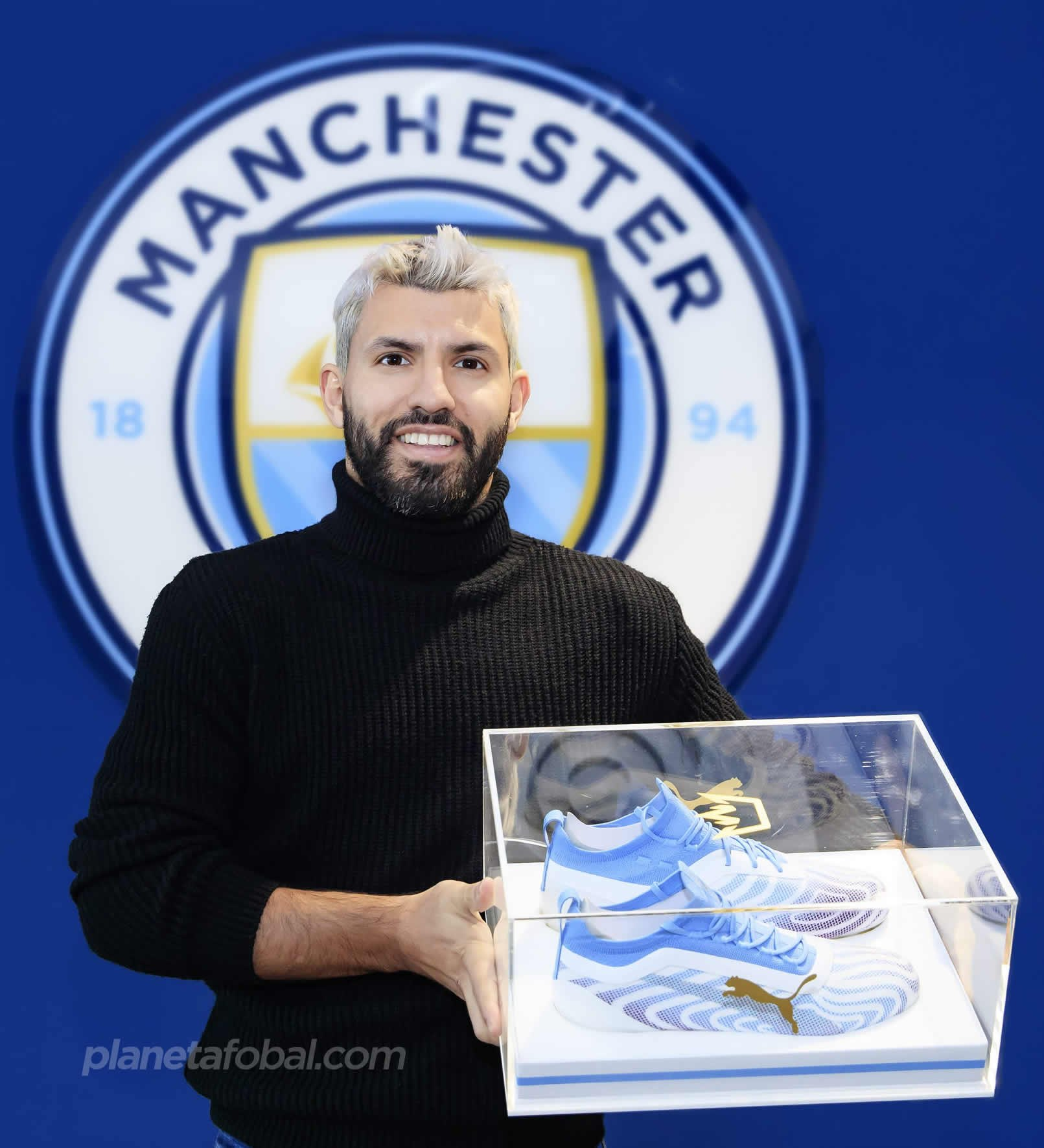 "Botines Puma ONE del Kun Agüero ""Hat-Trick"" | Imagen Twitter Manchester City"