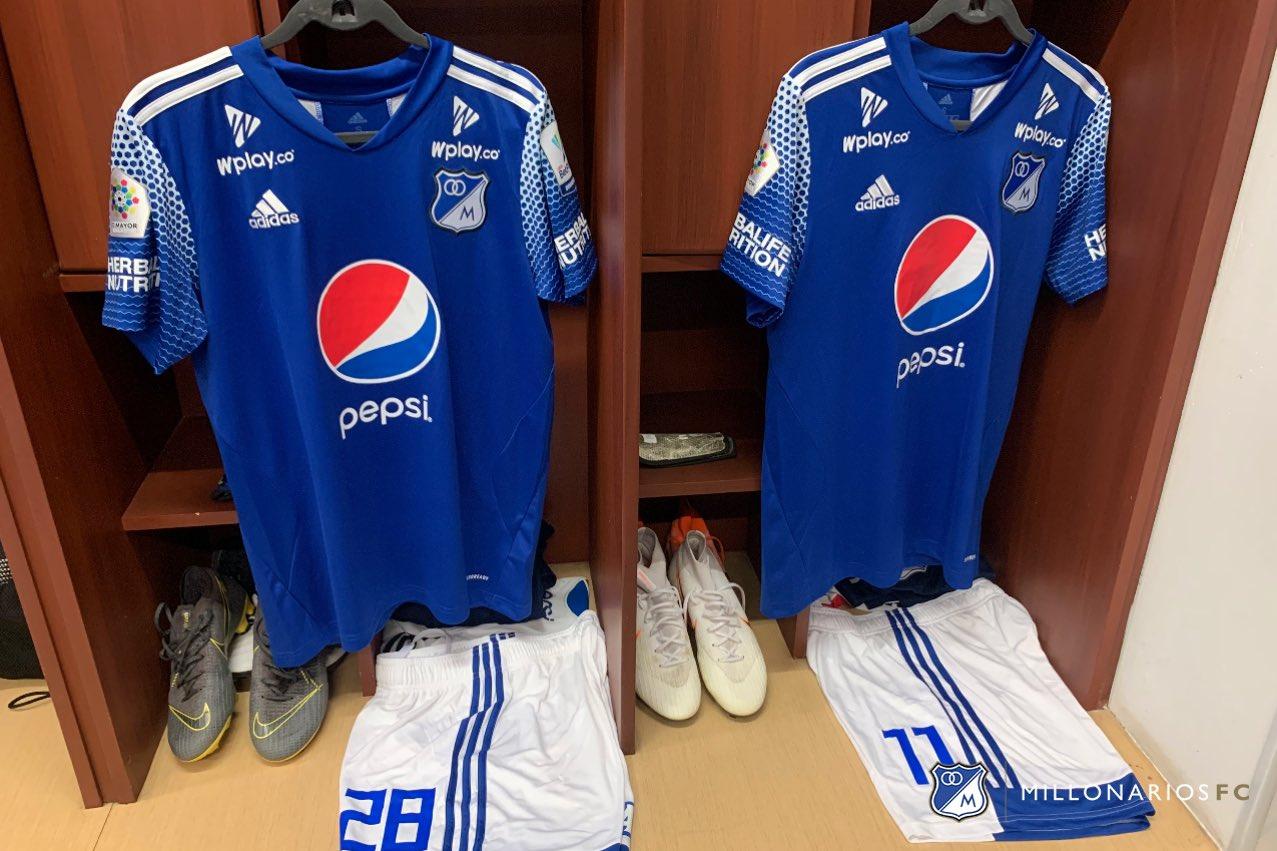 Camiseta Adidas de Millonarios 2020 | Imagen Twitter Oficial