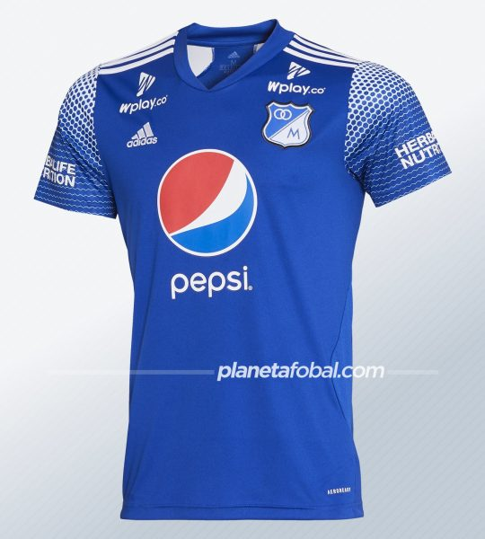 Camiseta titular de Millonarios 2020 | Imagen Adidas