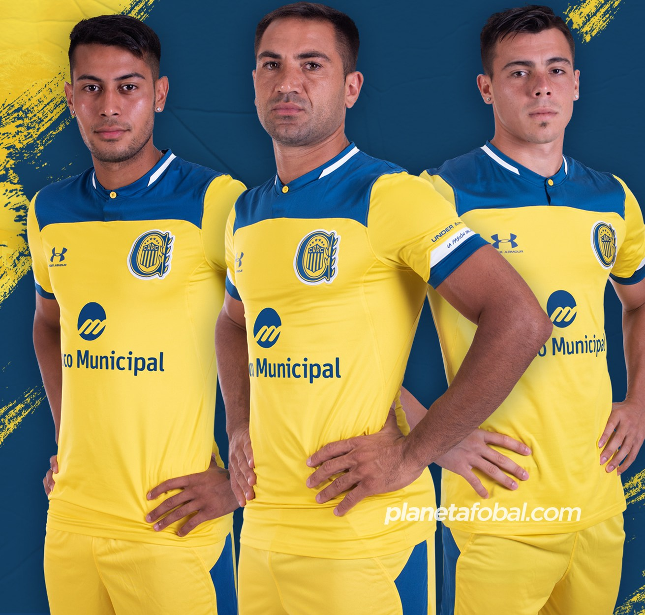 Camiseta suplente Under Armour de Rosario Central 2020 | Imagen Twitter Oficial