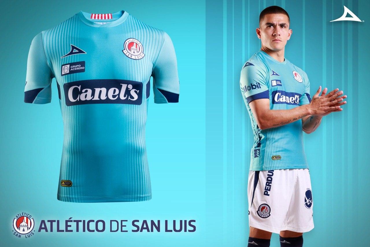 Tercera camiseta Pirma del Atlético de San Luis 2020   Imagen Web Oficial