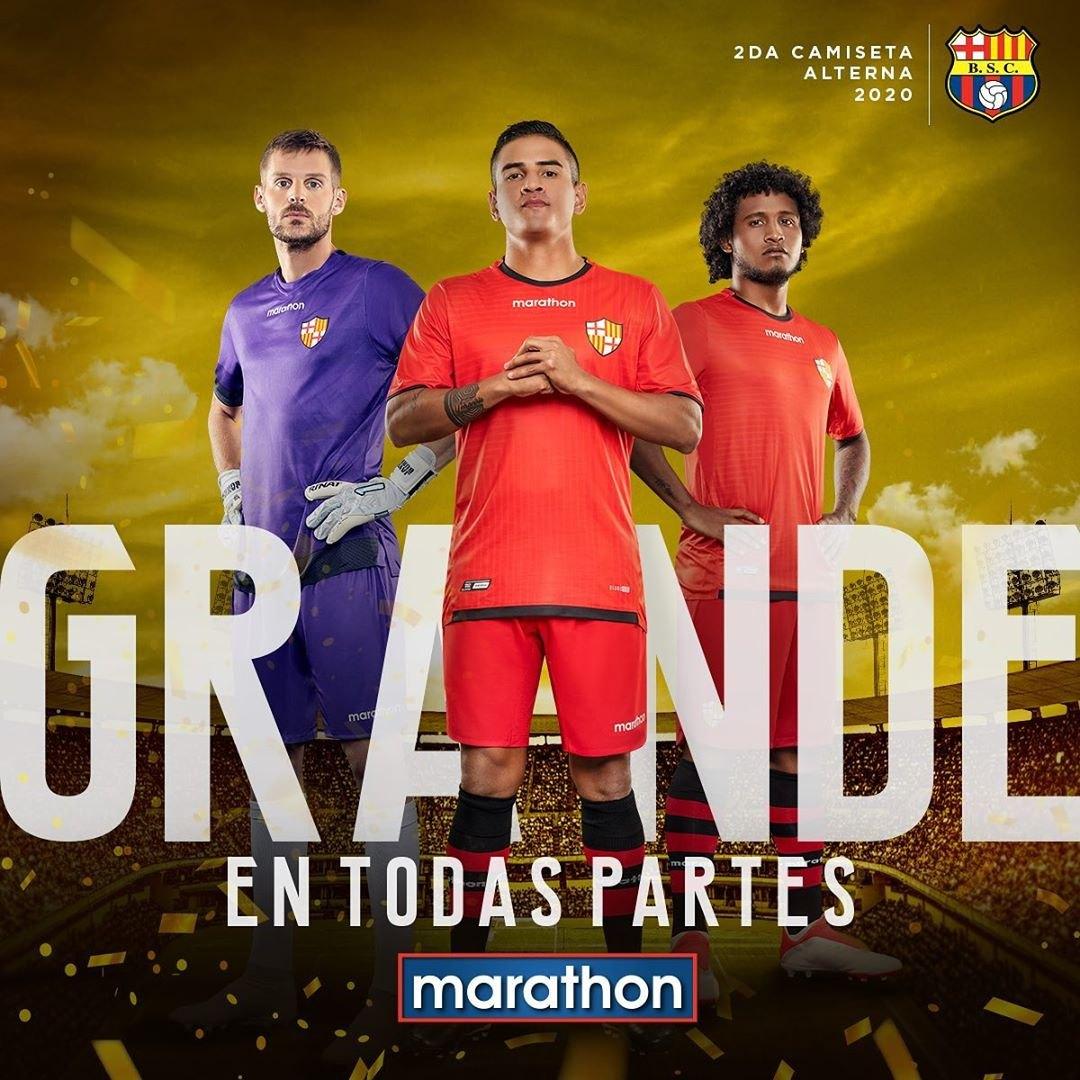 Segunda camiseta alternativa del Barcelona SC 2020 | Imagen Marathon