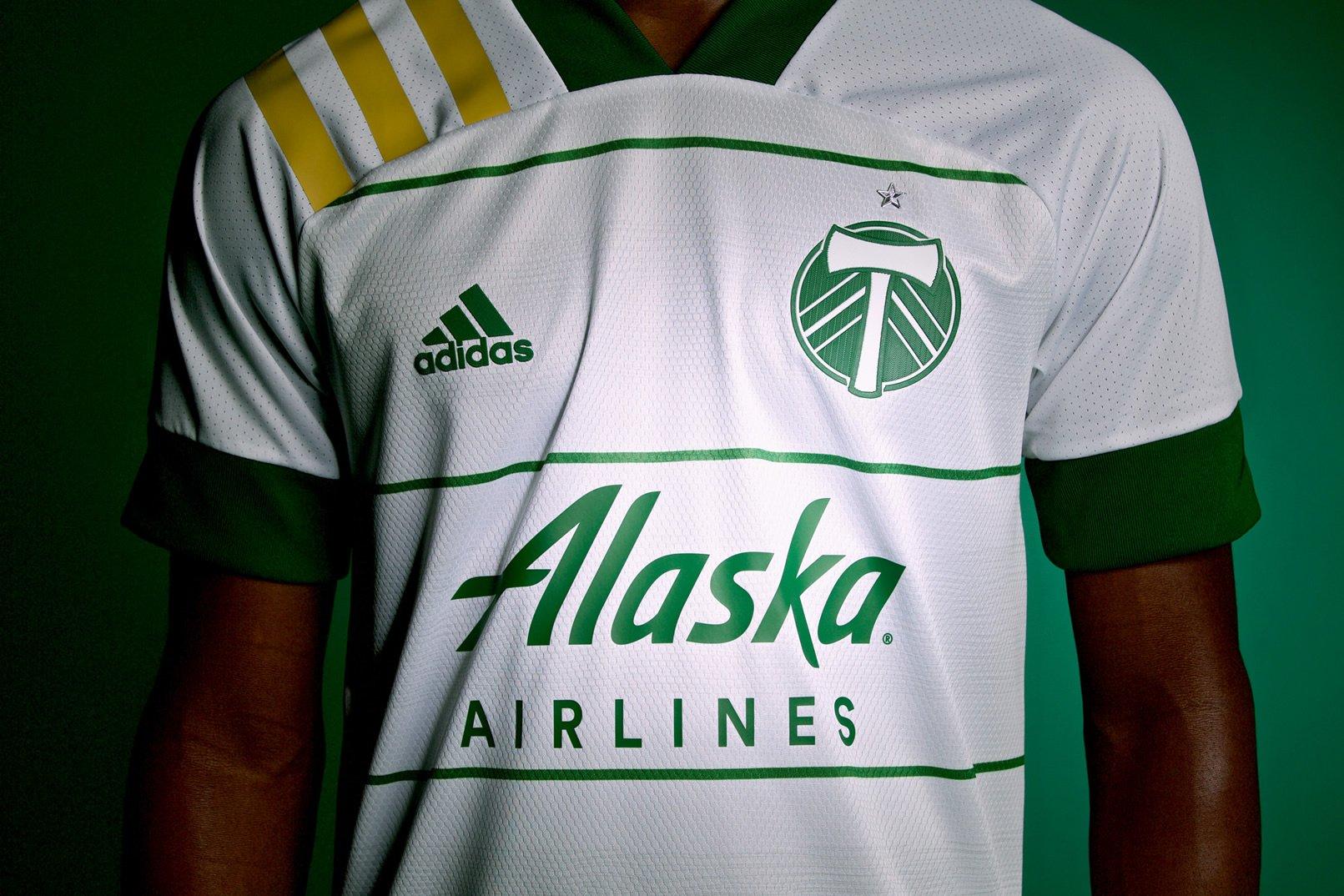 Camiseta suplente Adidas del Portland Timbers 2020/21 | Imagen Web Oficial