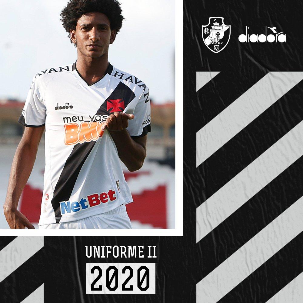 Camiseta suplente Diadora del Vasco Da Gama 2020 | Imagen Twitter Oficial