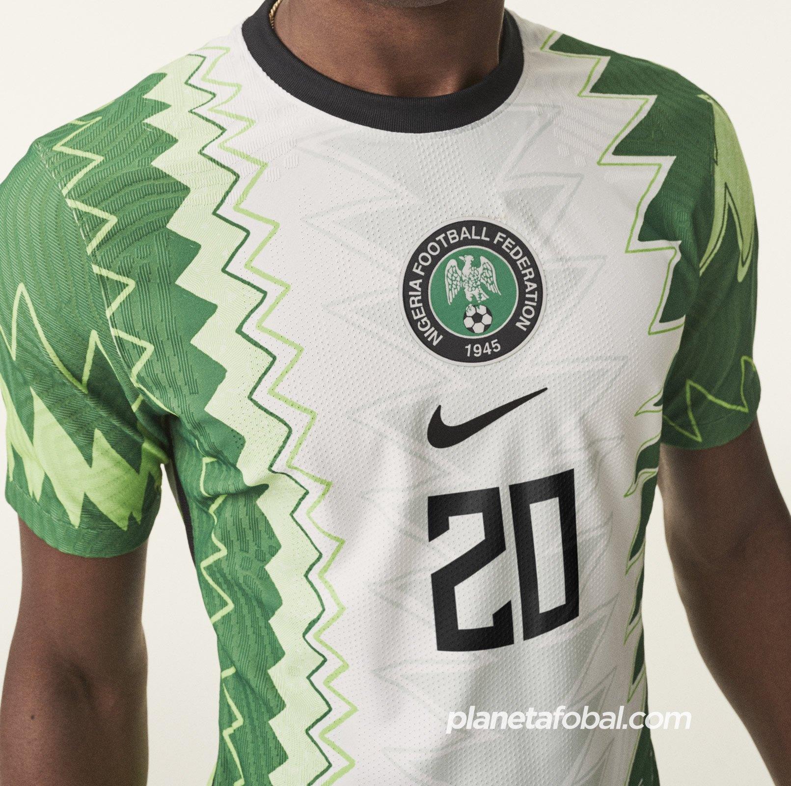 Nueva camiseta titular de Nigeria 2020/2021 | Imagen Nike