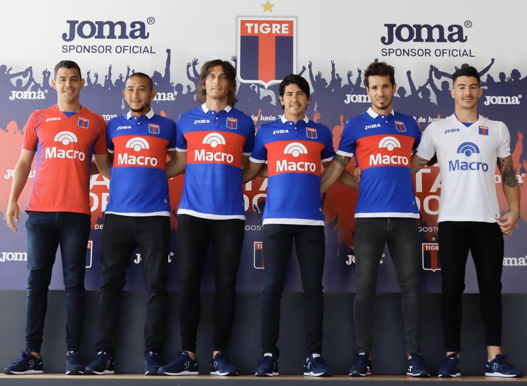 Camisetas Joma de Tigre 2020 | Imagen Twitter Oficial