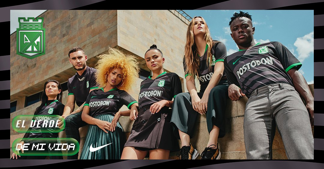 Tercera camiseta Nike de Atlético Nacional 2020   Imagen Web Oficial