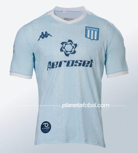 Camiseta segunda alternativa Kappa de Racing 2020 | Imagen Web Oficial