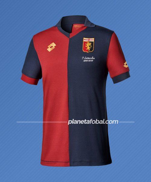 Camiseta 125 aniversario del Genoa (Italia) / Lotto