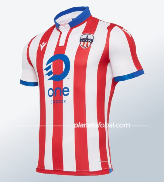 Camiseta Macron del Atlético Ottawa 2020 | Imagen Web Oficial