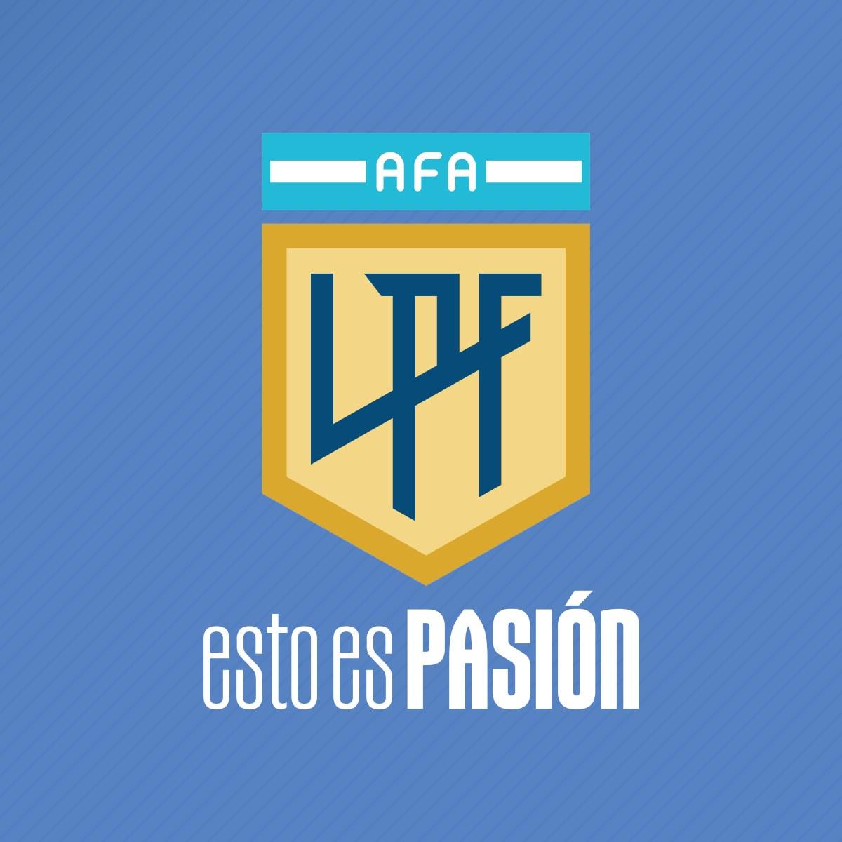 Logo y slogan de la Liga Profesional de Fútbol Argentino | Imagen Twitter Oficial