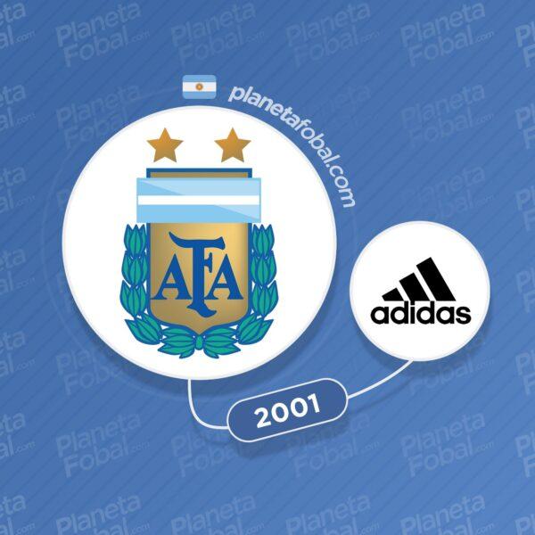 Argentina y Adidas desde 2001