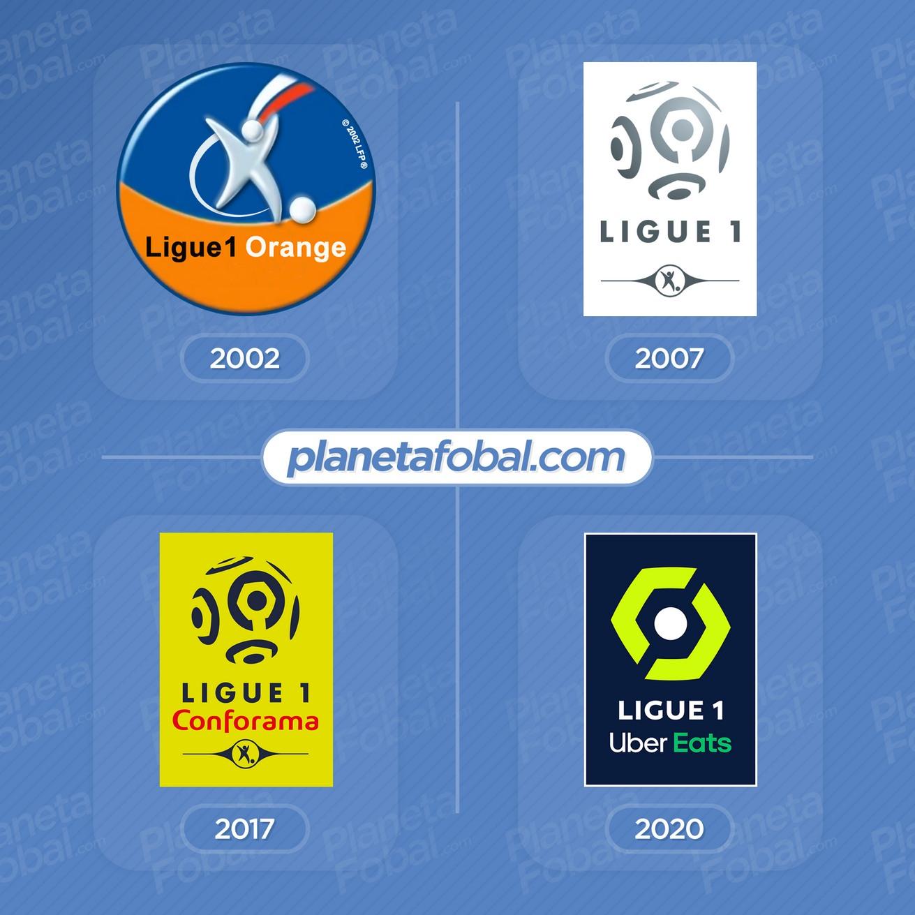 Evolución del logo de la Ligue 1 de Francia