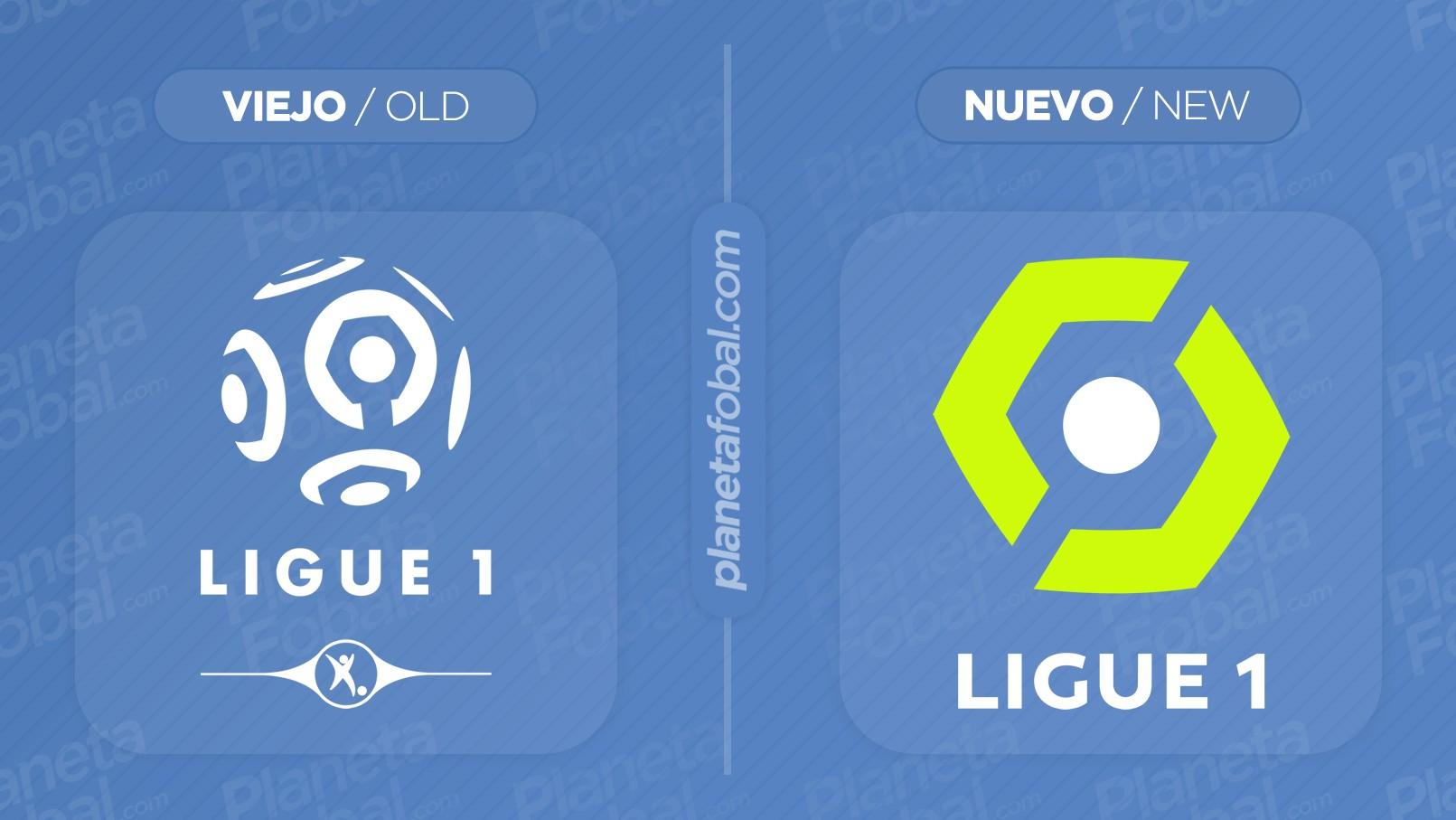 Logo anterior y nuevo de la Ligue 1 de Francia | Imágenes Web Oficial