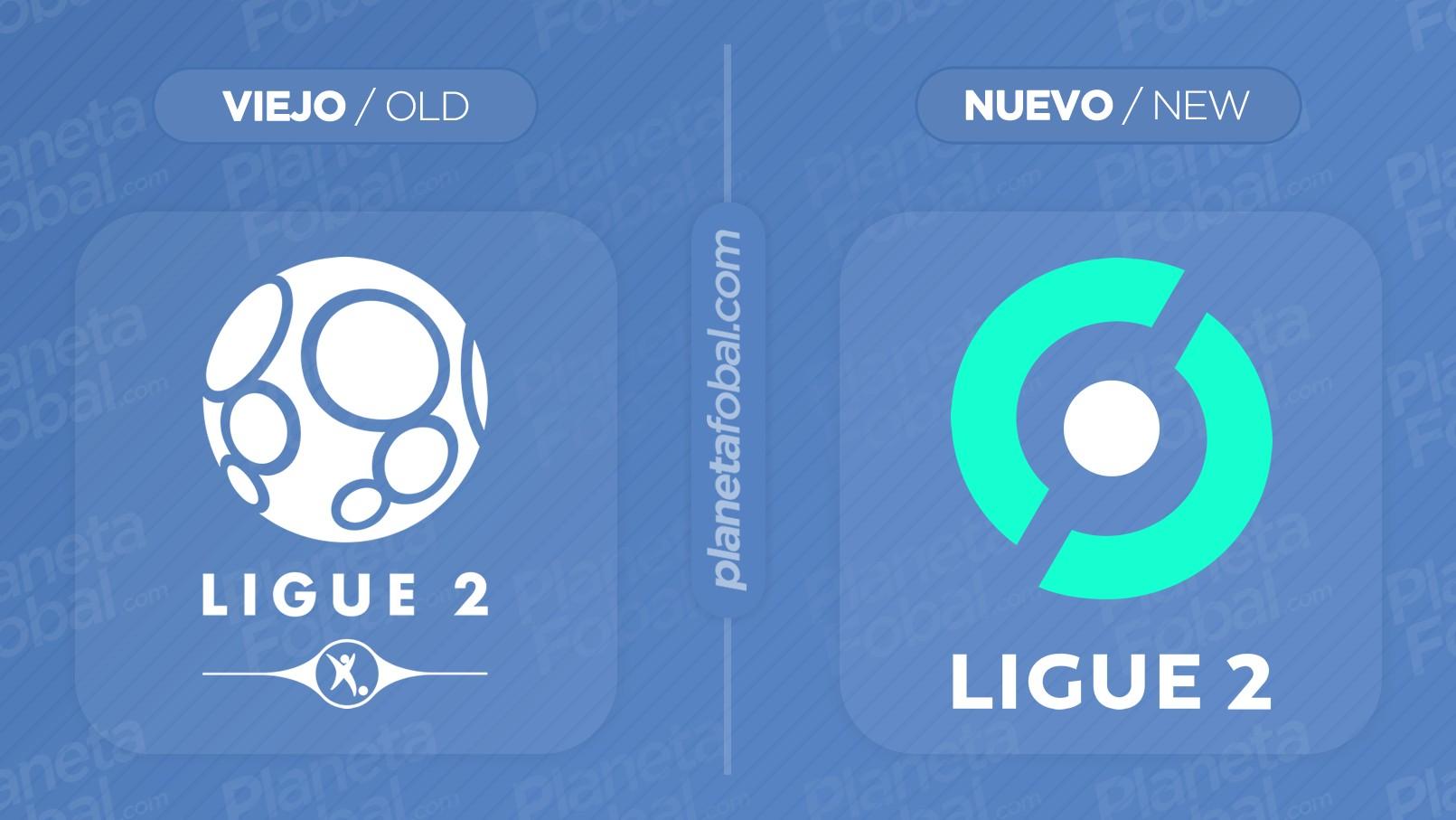 Logo anterior y nuevo de la Ligue 2 de Francia | Imágenes Web Oficial