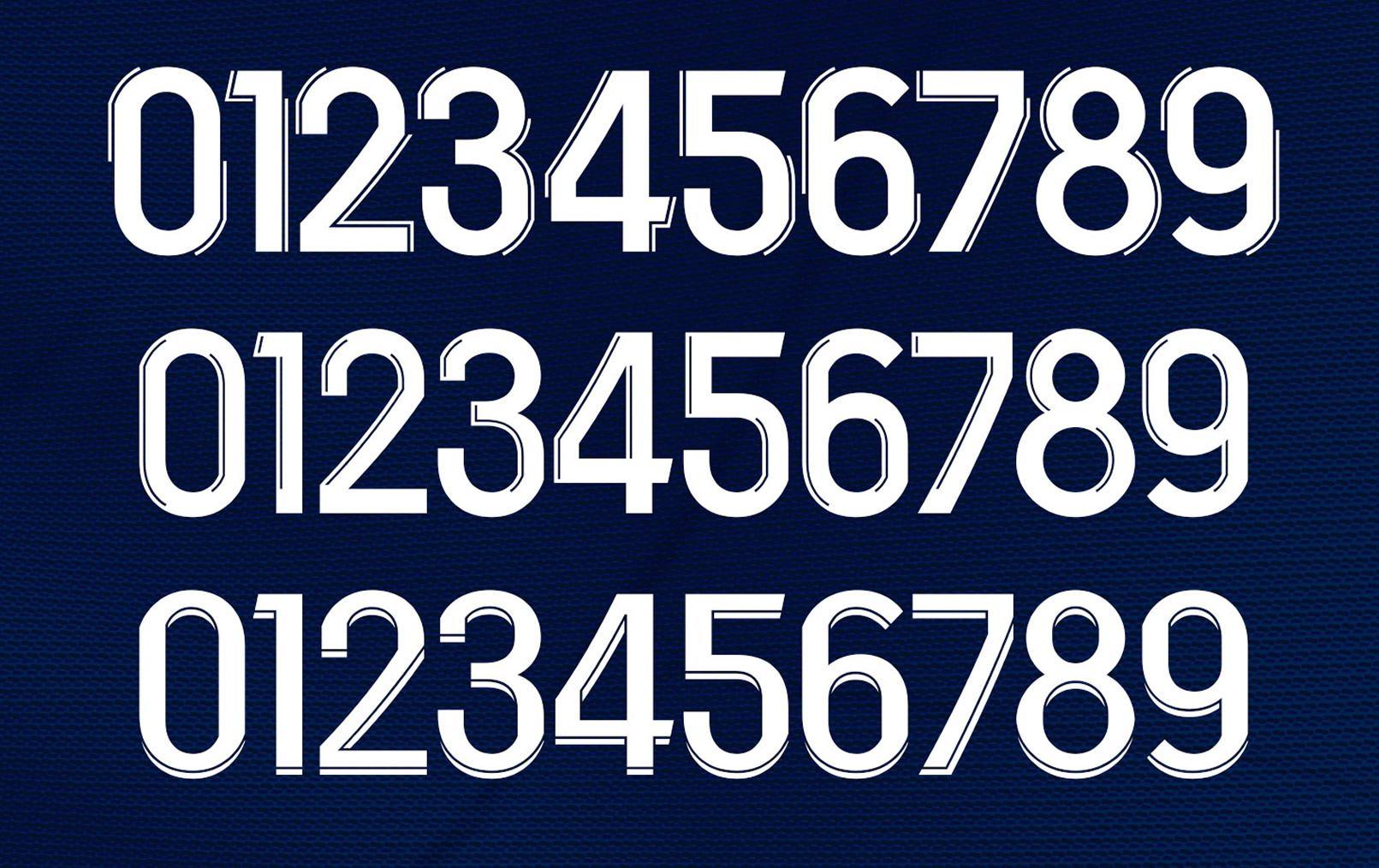 Los tres nuevos estilos para los números de las camisetas | Imagen Ligue 1