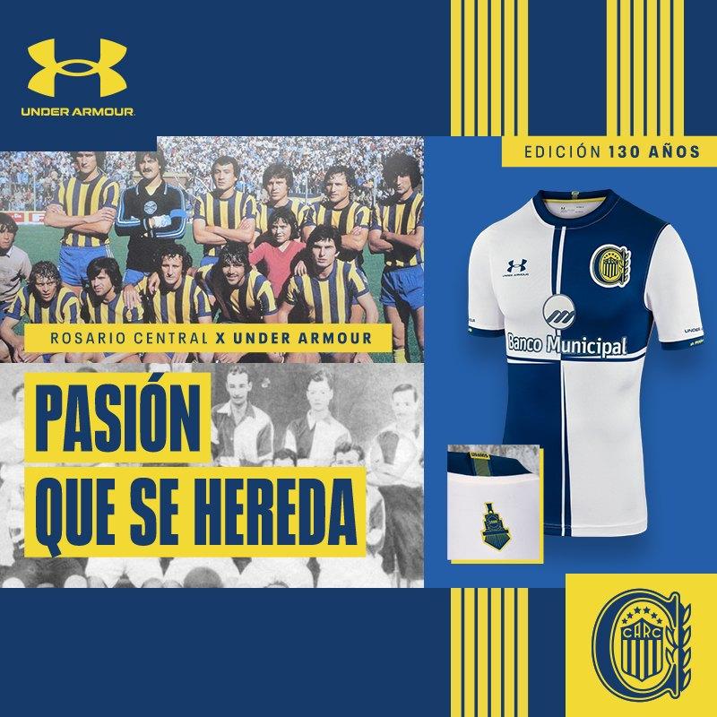 "Camiseta Under Armour de Rosario Central ""130 Aniversario"""