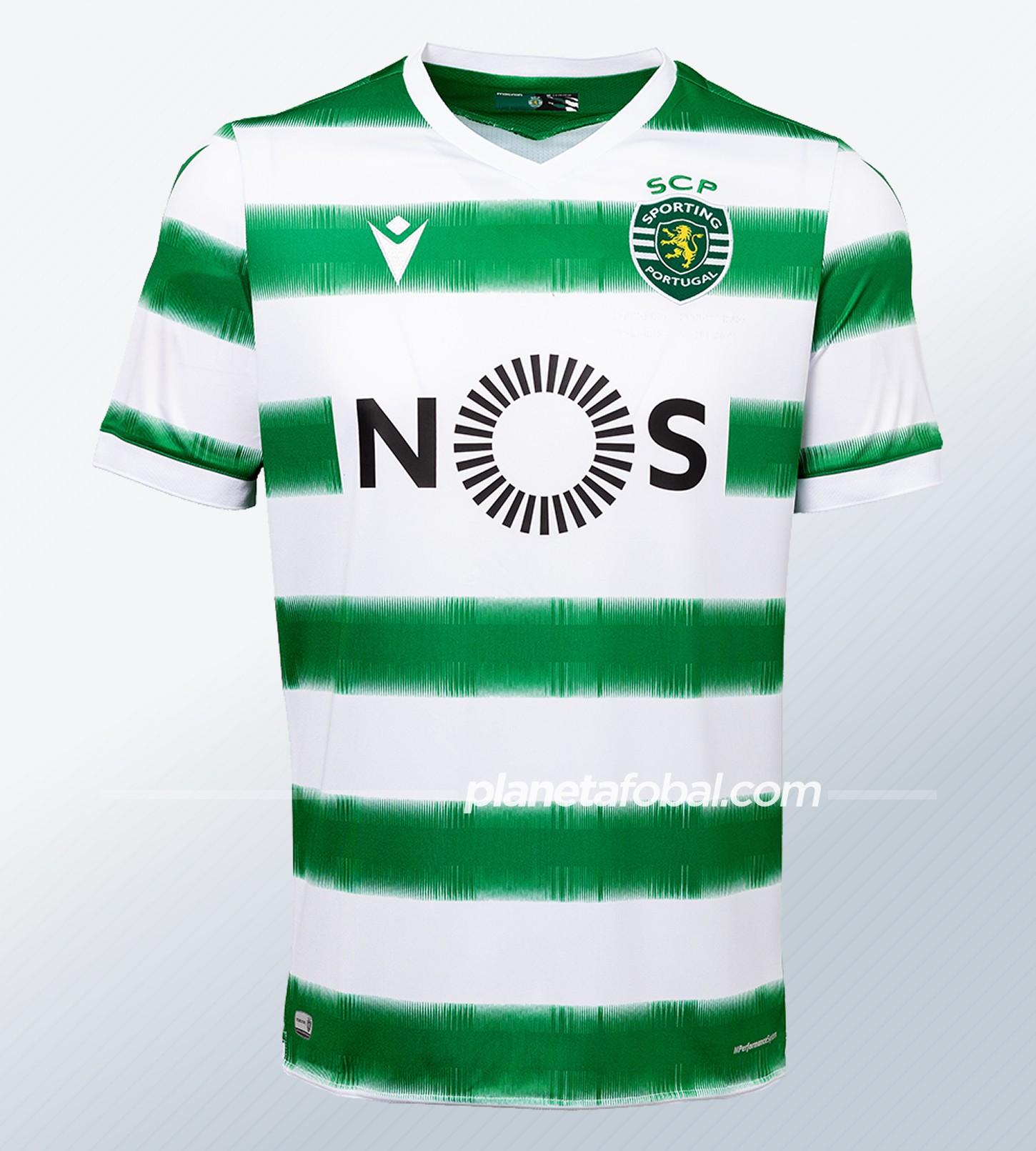 Camiseta titular Macron del Sporting CP 2020/21 | Imagen Web Oficial