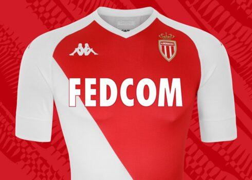 Camiseta local Kappa del AS Monaco 2020/2021 | Imagen Web Oficial