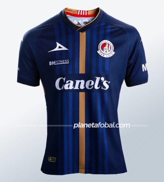 Camiseta visita Pirma del Atlético de San Luis 2020/21   Imagen Twitter Oficial