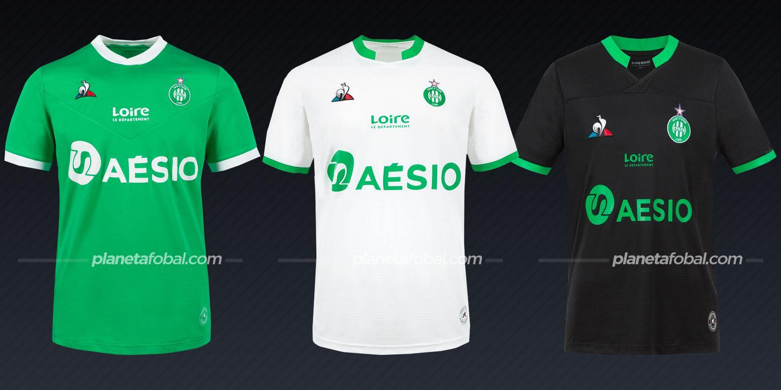 Saint-Étienne (Le Coq Sportif) | Camisetas de la Ligue 1 2020/2021