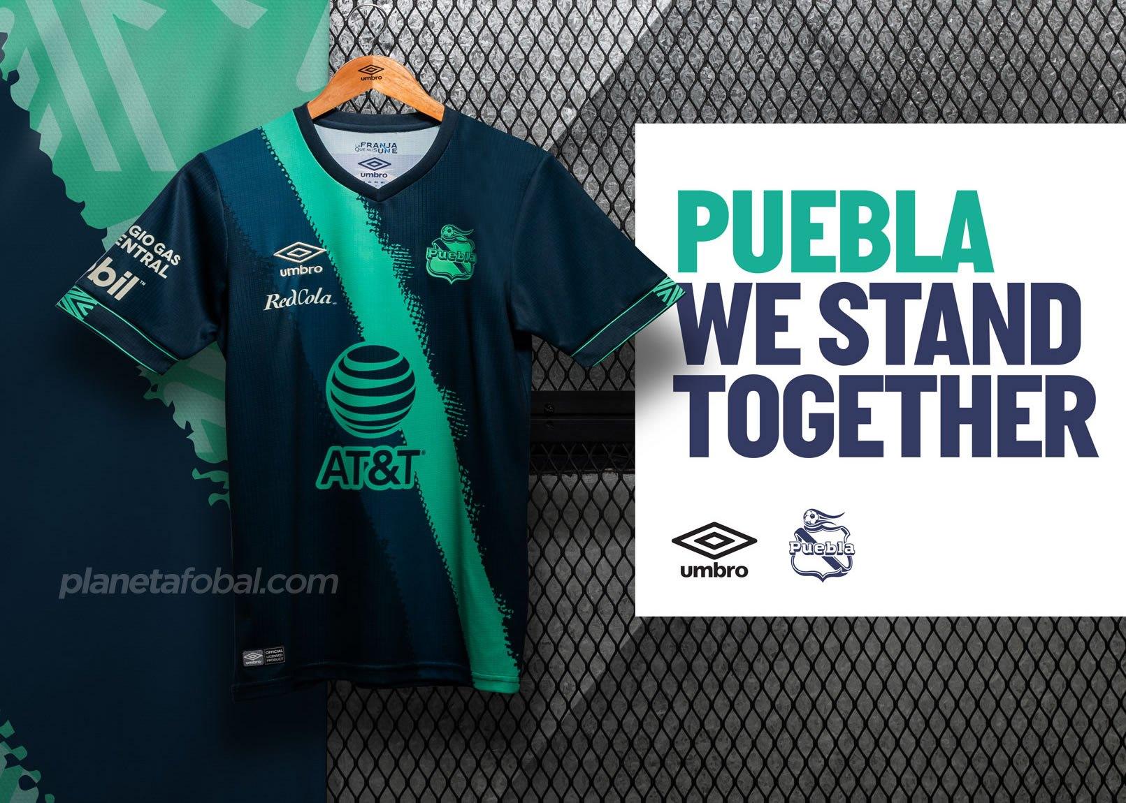 Camiseta visitante Umbro del Club Puebla 2020/21 | Imagen Twitter Oficial