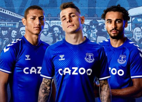 Chemise Hummel Everton 2020/21 | Image du site officiel