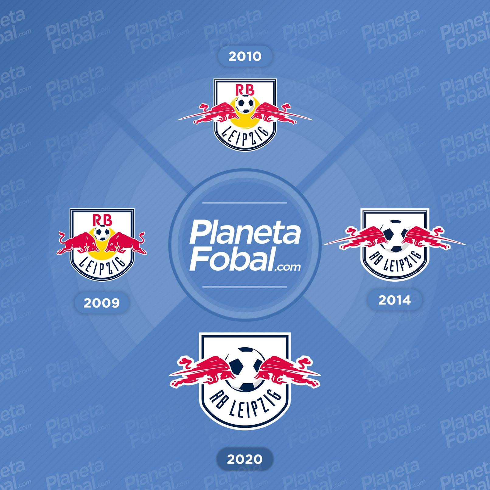 Los cambios que tuvo el escudo del RB Leipzig
