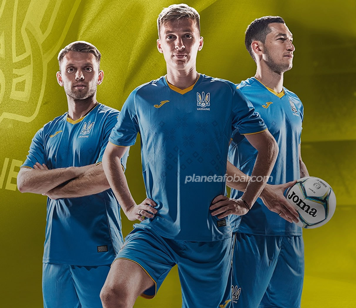 Camiseta suplente Joma de Ucrania 2020/21 | Imagen FFU