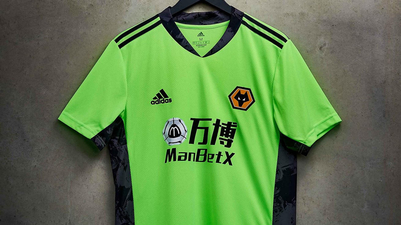 Camiseta arquero Adidas del Wolverhampton 2020/21 | Imagen Web Oficial