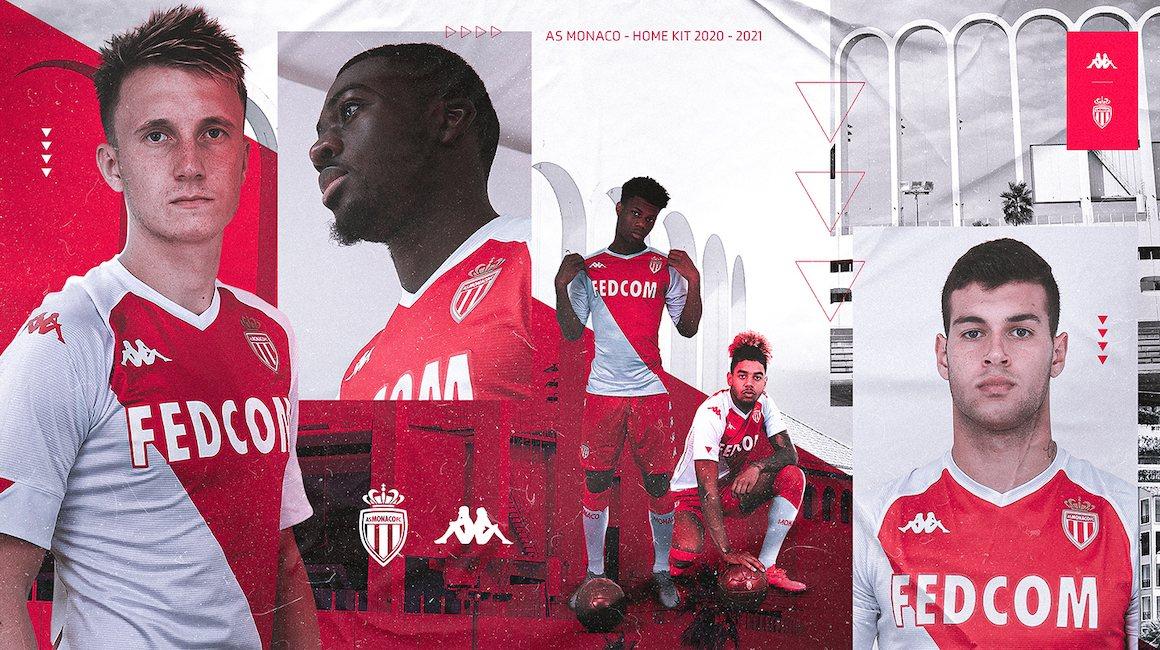 Maillot Kappa AS Monaco 2020/2021 | Image Web officielle