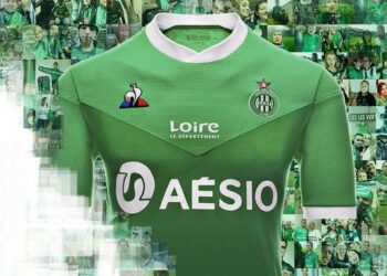 Camiseta titular le coq sportif del Saint-Étienne 2020/21 | Imagen Web Oficial