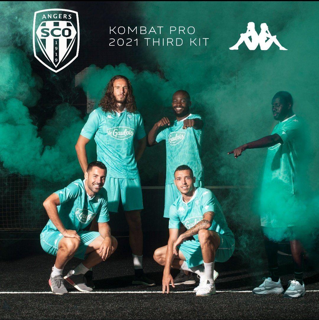 Tercera camiseta Kappa del Angers SCO 2020/21 | Imagen Web Oficial