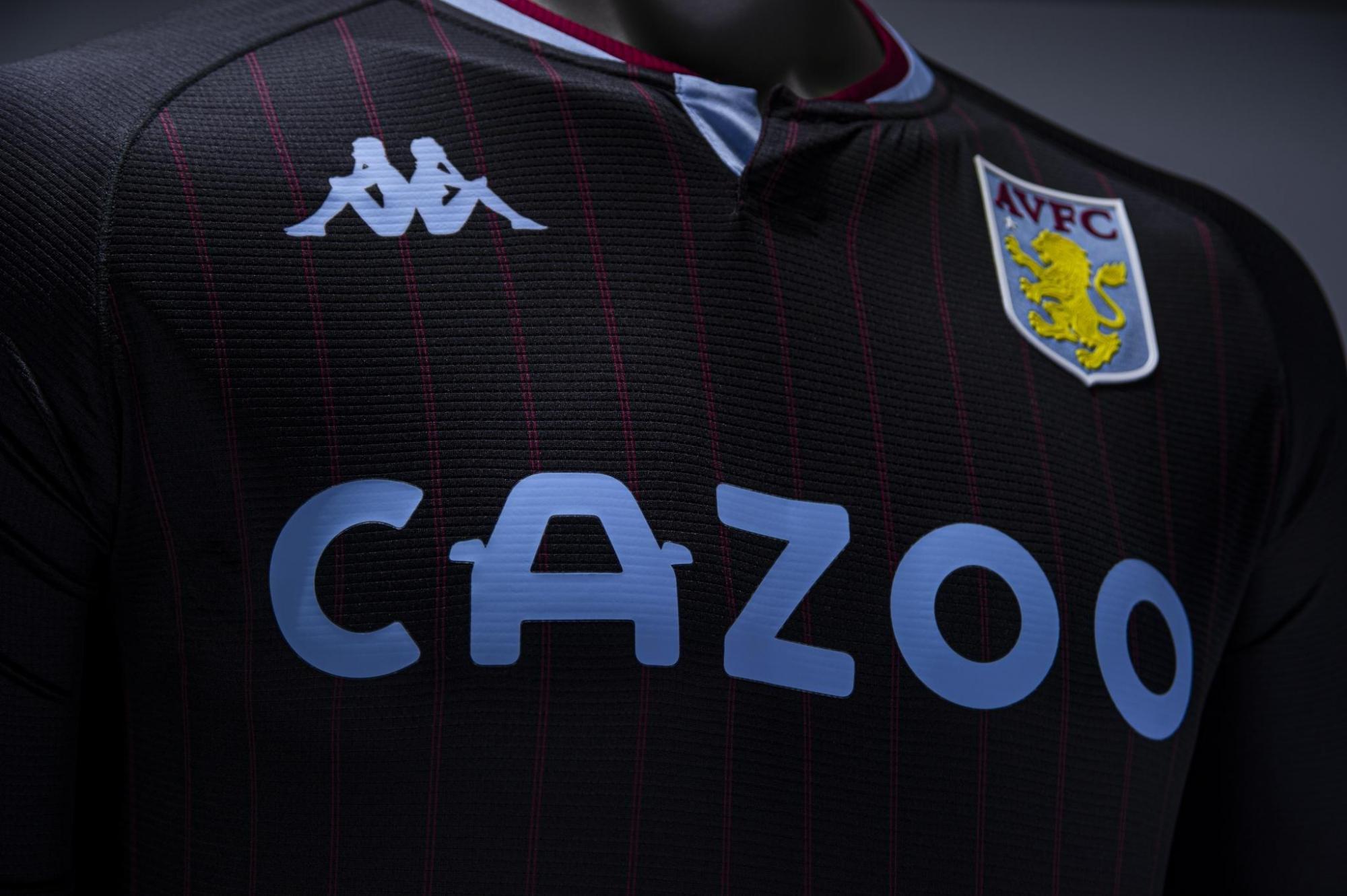 Camiseta suplente Kappa del Aston Villa 2020/21   Imagen Web Oficial