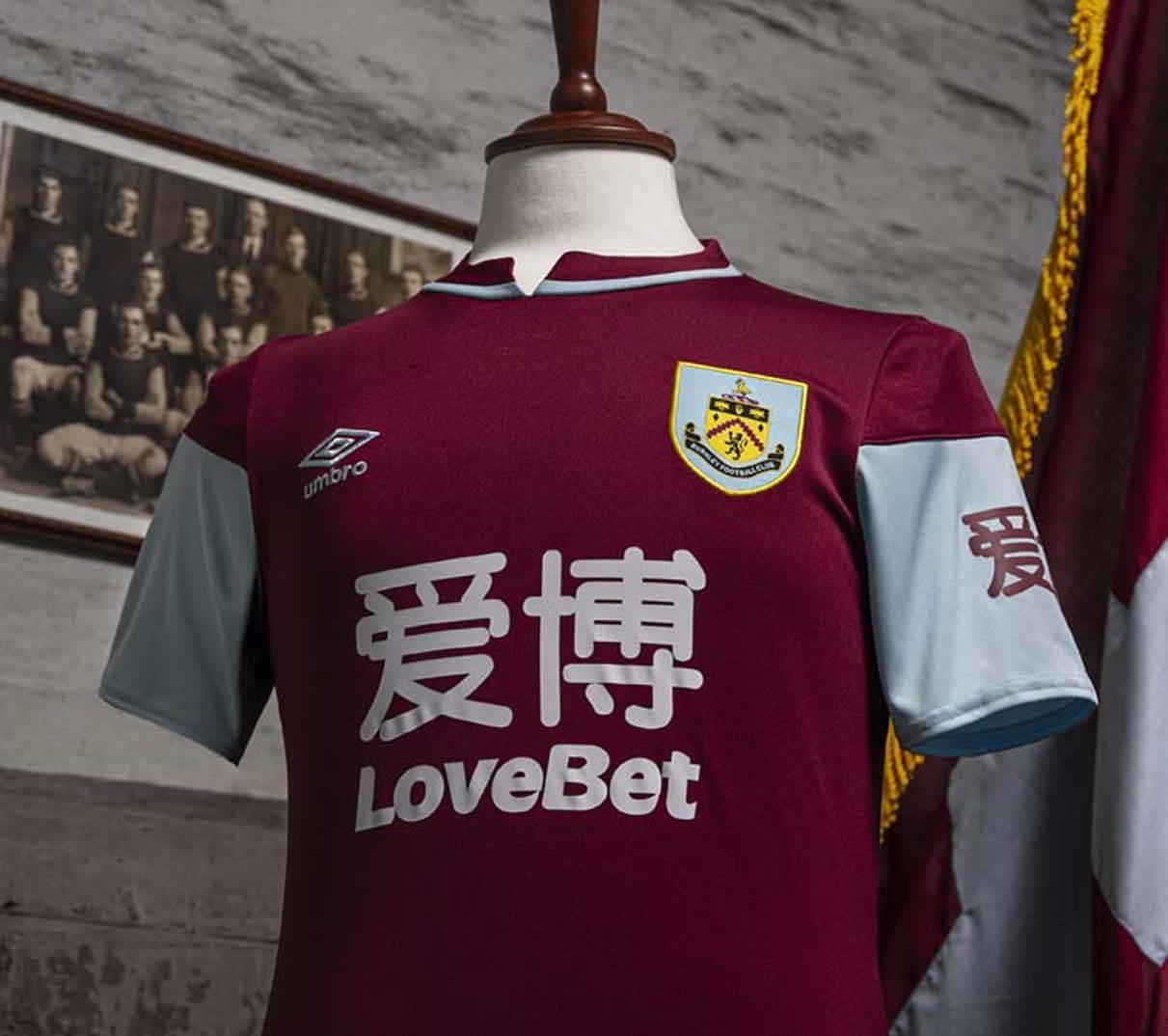 Camiseta Umbro del Burnley FC 2020/21   Imagen Web Oficial