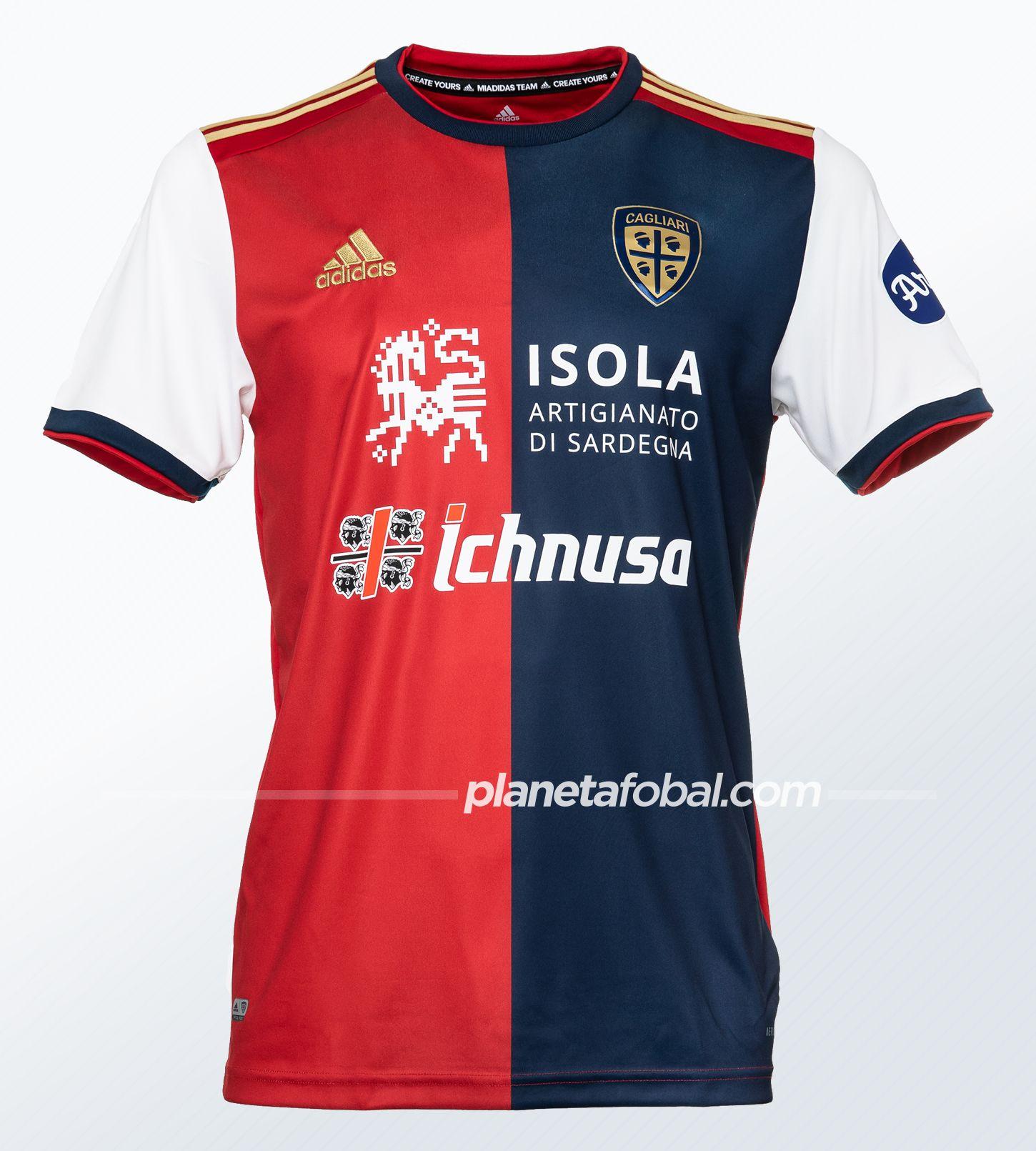 Camisetas adidas del Cagliari 2020/21 | Imagen Twitter Oficial