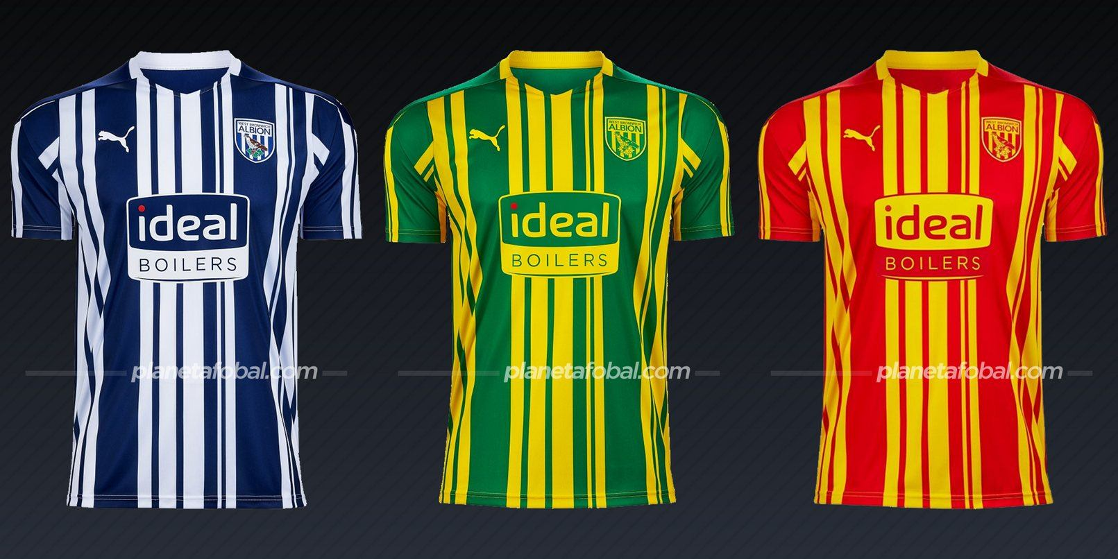 West Bromwich Albion (PUMA) | Camisetas de la Premier League 2020/2021