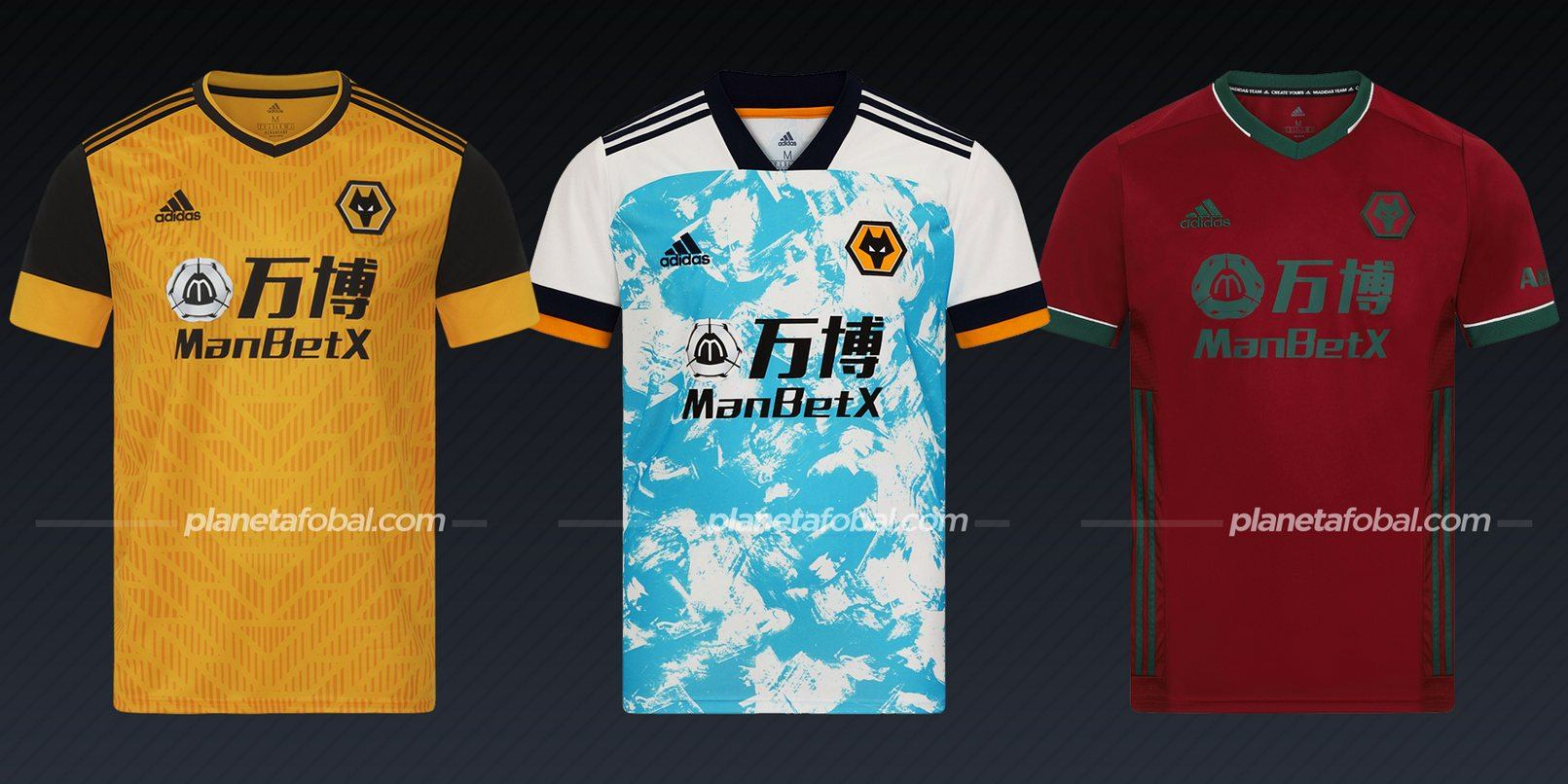 Wolverhampton (adidas) | Camisetas de la Premier League 2020/2021