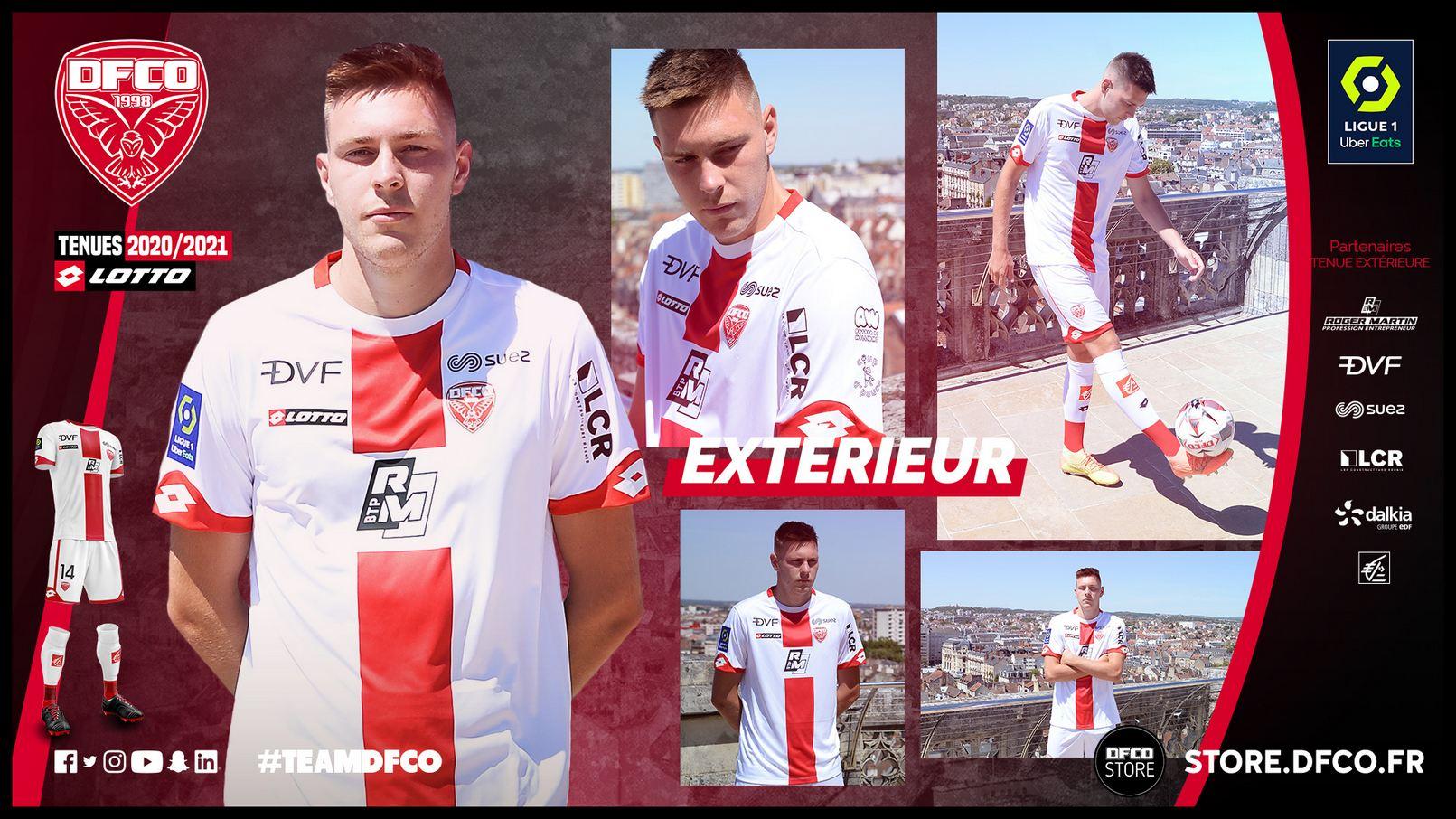 Camisetas Lotto del Dijon FCO 2020/21 | Imagen Web Oficial